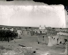 Historic Photo of Isleta Pueblo (PA1990.13.441 by ABQ MUSEUM PHOTOARCHIVES, via Flickr)