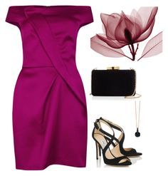 """""""Untitled #2645"""" by carlene-lindsay on Polyvore featuring Roland Mouret, Kayu, Pomellato and Jimmy Choo"""