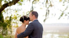 """This Savannah wedding from Memorable Moments Photography has completely stolen my heart.  Mix a """"late-afternoon picnic"""" vibe with the sweetest details, and a couple so in love you can't help but smile, and you have this lovely spring day.  Dunham Farms is a stunning venue.  It's draped in Spanish Moss, has a ceremony site that is covered by Live Oaks, and has a shimmer of water in the backdrop.  It was the perfect place for these two lovebirds to tie the knot, and the entire day was just…"""