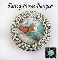 Purse Hanger - photo purse hanger, gift for her, custom purse holder, folding purse hanger, bling purse hanger, Gift for Grandma by NowThatsPersonal on Etsy