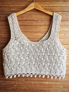 Women summer white top Bohemian crochet top Crochet boho lace top Festival top - Her Crochet Crochet Shirt, Crochet Crop Top, Crochet Cardigan, Diy Crochet, Motif Bikini Crochet, Crochet Summer Tops, Beautiful Crochet, Knitting Designs, Crochet Clothes