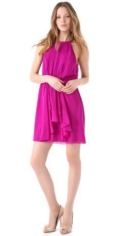 Feeling Good Scoop-neck Silk-Chiffon Dress