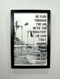 The Flying Trapeze FRAMED Print by CantonBoxCompany on Etsy