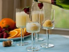Looks like a great one to try for New Year's. Orange Cream Mimosa from CookingChannelTV.com