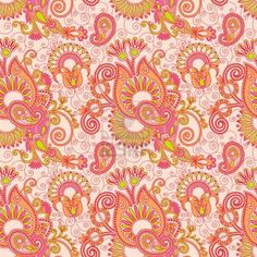vintage floral seamless paisley pattern Stock Photo