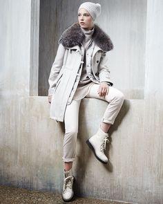 Brunello Cucinelli Cashmere & Brunello Cucinelli Pants   Neiman Marcus