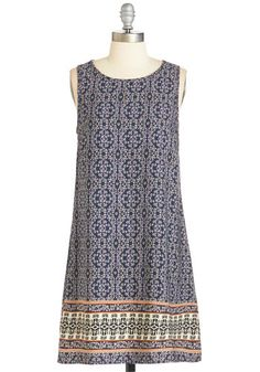 Cheery Choice Dress - Multi, Print, Other Print, Casual, Shift, Woven, Good, Mid-length, Boho, Festival