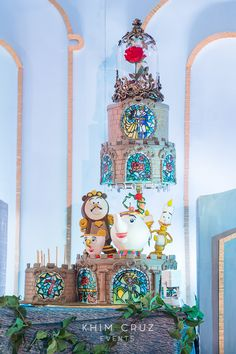 A Stunning Beauty and the Beast Party for Yunice – Best Wedding Beauty Disney Desserts, Disney Cakes, Disney Food, Disney Theme Cupcakes, Disney Wedding Cakes, Beauty And The Beast Wedding Cake, Beauty And Beast Birthday, Beauty And The Beast Theme, Beauty Beast