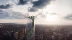 Occitanie Tower: high-rise premiere in Toulouse, France - THE Stylemate Concept Architecture, Beautiful Architecture, Chinese Architecture, Architecture Office, Futuristic Architecture, Balcony Herb Gardens, Vertical Forest, Vertical Gardens, Green Tower