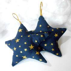 Deux étoile de noël cousin décoration sapin