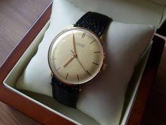 Vendita! Rari 1955 Junghans Meister Cal 84/S3 Gold Plated Watch come Max Bill 6 mesi di garanzia