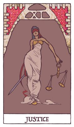 Tarot - Justice (WIP) by Jacinthe on deviantART