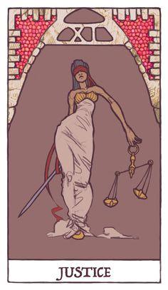 Tarot - Justice (WIP) by Jacinthe on deviantART