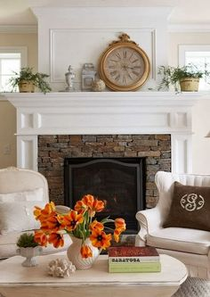 DWELLINGS-The Heart of Your Home: A COZY FIREPLACE ~ The Focal Point of the Room!