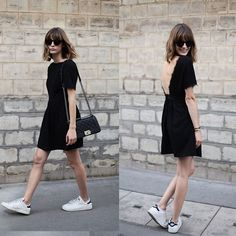 Suncoo Dress, Adidas Sneakers // intoyourcloset