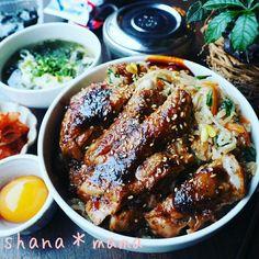 炊飯器で1発⁉ピリ辛韓国風炊き込みビビンバと焼肉チキン♪