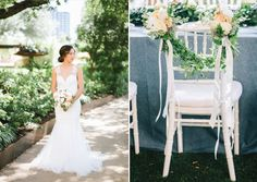Bring formality outdoors for a refined garden wedding at Four Seasons Hotel Austin! This romantic design from Wagner Weddings & Events is a dream with beautiful florals from Lee Warth Floral Design, luxe stationery from Paper Place and delicious desserts from Fluff Meringues! The bride looked stunning in a lace gown from Julian Gold Bridal with hair and makeup by Weddings by Celissa Rae. The scene was set with rentals from Premiere Events and every detail was captured by Sarah Goss…