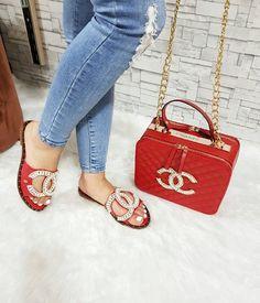 designer handbags gucci – Famous Last Words Chanel Fashion, Fashion Bags, Fashion Shoes, Cheap Fashion, Fashion Women, Chanel Sandals, Chanel Shoes, Chanel Bag Red, Chanel Chanel