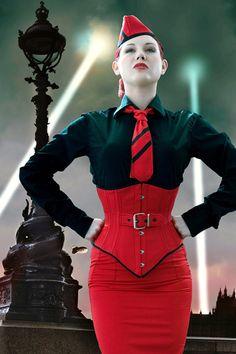 Dieselpunk ~ Velda Lauder Corsetiere http://guilty-pleasures.org/velda-lauder-corsetiere