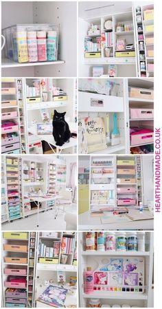 Craft Tables With Storage, Craft Storage Cabinets, Craft Cabinet, Craft Room Storage, Craft Organization, Storage Boxes, Table Storage, Craft Rooms, Storage Ideas