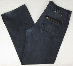 Men Buffalo Romeo Jeans David Britton Dark Wash Boot Cut Mid Rise sz 36 X 32