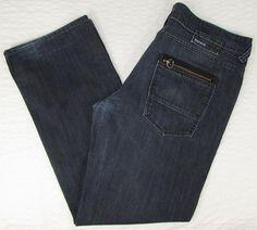 Men Buffalo Romeo Jeans David Britton Dark Wash Boot Cut Mid Rise sz 36 X 32
