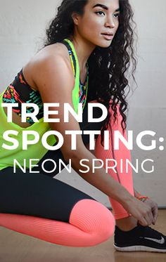 With colors like neon turquoise, coral, and lemony-lime yellows Spring has never looked brighter! #evolvefitwear