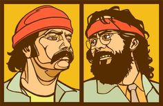 Cheech and Chong by Cloxboy.deviantart.com on @deviantART