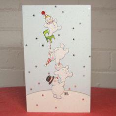 """Balancing Snowmen"" Christmas Card"