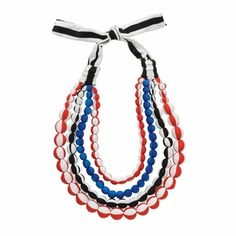 Marimekko Red/White/Blue Loru Necklace - Click to enlarge