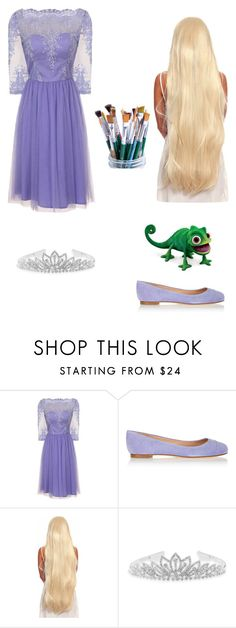 """""""Rapunzel's Winter Day Out"""" by www-nyny ❤ liked on Polyvore featuring Chi Chi, Sergio Rossi and BillyTheTree"""