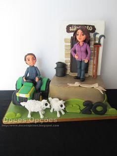 Doces Opções: Bolo de aniversário Decoration, Cake, Design, 30th Birthday Cakes, Sweet Pastries, Agriculture, Tractor, Dekoration, Pie Cake