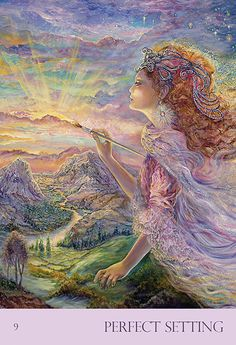 """Perfect Setting"" Oracle Cards par Josephine Wall"
