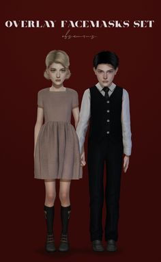 Official Post from obscurus-sims: OVERLAY FACEMASKS: 15 swatches (my previous skins and unrealised projects), toddler/child, all genders DL Sims 4 Mods Clothes, Sims 4 Clothing, Sims Mods, Sims 4 Children, 4 Kids, Sims Medieval, The Sims 4 Skin, Sims 4 Dresses, Sims4 Clothes