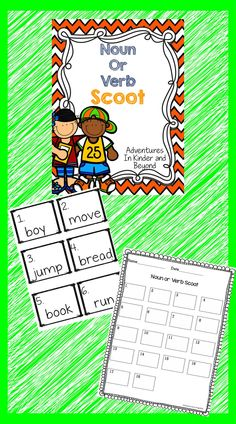 This file contains 30 task cards with one word on each card. This game of Scoot is designed to help students identify nouns and verbs. Students will determine what type of word it is and they will record their answer on their recording sheet.