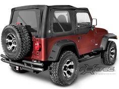 Rugged Ridge® All-Terrain 6-Piece Fender Flare Kit for 97-06 Jeep® Wrangler TJ