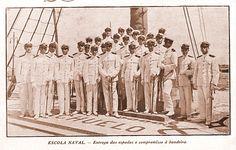 Rio de Janeiro de Hontem!: E no Rio de Janeiro de 1921, apresentamos na Escola Naval, a entrega das espadas e o compromisso de Juramento à bandeira dos novos guardas- marinha