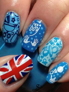 Baby Boy Nail Art - Nail design is amongst the most preferred fashion patterns of today, as well as nail painting is not Baby Boy Nails, Baby Nail Art, Baby Shower Nails, Baby Boy Shower, Fingernail Designs, Blue Nail Designs, Manicure E Pedicure, Mani Pedi, Cute Nails