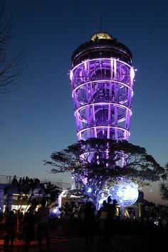 Enoshima Lighthouse-Japan This lighthouse is on a small island a couple hours outside of Tokyo. A huge open-air spiral staircase winds around the steel structure and leads to an observatory 100 meters high Monte Fuji, Japon Tokyo, Lighthouse Pictures, Foto Poster, Beacon Of Light, All Things Purple, Purple Stuff, Steel Structure, Small Island