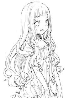 Red riding hood Drawing Base, Manga Drawing, Manga Art, Anime Art, Anime Drawings Sketches, Anime Sketch, Cute Drawings, Anime Character Drawing, Character Art