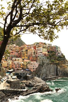 Manarola, Cinque Terre, Italy   Post-undergrad trip with Mom, July 2001 One of the most beautiful places I've ever been with amazing seafood.