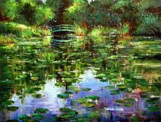Giverny (2006) - 39 x 54 Original Oil on Canvas