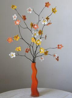 An whimsical decoration for the bedroom, inspired by this sakura motif   How to make the flower (this is my interpretation of the motif, no...