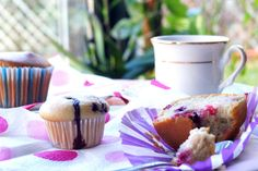 A simple and mild tea-time snack. These are muffins are made from all kind of berries to enhance the flavour and these are eggless. Tea Time Snacks, How To Make Cake, Make It Simple, Cake Recipes, Muffins, Berries, Fruit, Muffin, Easy Cake Recipes