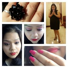 Today's look at the event of za beauty school @ Taj Mahal Hotel, New Delhi... sexy black dress... well u know how much i love black.... light eye makeup with bold red lips... glamour added with big n gorgeous black ring.. n zoya's nail enamel #kannucreative #lookfortheday #event #zabeautyschool #tajmahalhotel #delhi #blogger #youtuber #zoya #nailenamel #mac #rubywoo #oriflame #lipliner #dress #snapdeal #black #blackring #lakme #9-5 #eyeshadowpalette #softeyes #boldlips #lakmeeyeliner…