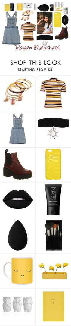 """""""Rowan Blanchard"""" by babyxrach ❤ liked on Polyvore featuring River Island, Topshop, Vagabond, Lime Crime, NARS Cosmetics, beautyblender, Dot & Bo and School of Life"""