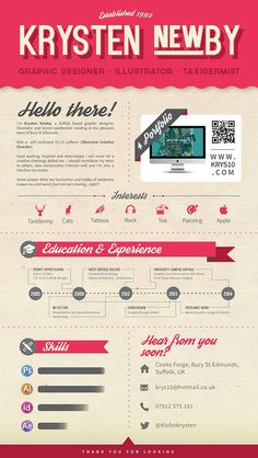 Modern #resume ideas for graphic designers and other creatives. I love how she included her portfolio. #stationery