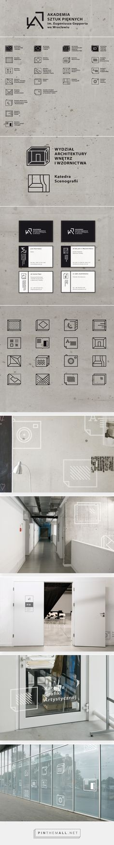 Logo and icon set for the Academy of Art and Design on Behance - created via https://pinthemall.net