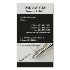 Notary public business card business cards business and extra money professional notary public pen signature business card its two sided with no additional charge and totally customizable reheart Choice Image