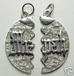 0881 jewish silver mizpah love pendant charm jewelry Real Sterling silver 925 pendant Charm jewelry by princeofdiamonds